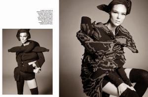 Karlie Kloss, Lexi Boling, Sasha Pivovarova, Coco Rocha & Aymeline Valade by Steven Meisel for Vogue Italia October 2014 (3)