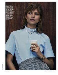 Hana Jirickova By Jens Langkjaer For Vogue Russia February 2015 (4)