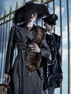 Lara Stone, Molly Bair And Tyson Ballou By Steven Klein For Vogue Italia January 2015 (1)