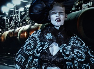 Lara Stone, Molly Bair And Tyson Ballou By Steven Klein For Vogue Italia January 2015 (3)