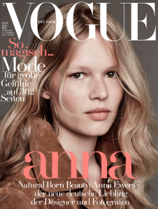 Anna Ewers by Iango Henzi + Luigi Murenu, Peter Lindbergh, Patrick Demarchelier, Daniel Jackson, Camilla Akrans for Vogue Germany March 2015 (1)