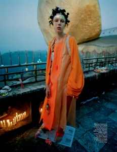 Edie Campbell By Tim Walker For W May 2014 (4)