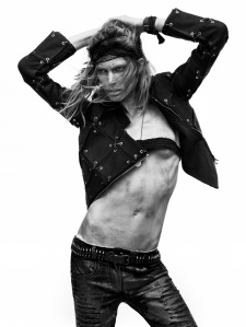 Iselin Steiro by David Sims for Vogue Paris March 2010 (1)