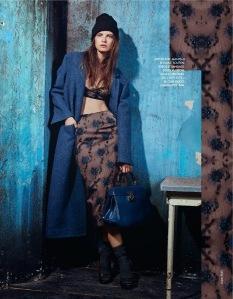 Nikola Romanova by Jasper Abels for for Elle France 29th November 2013 (11)