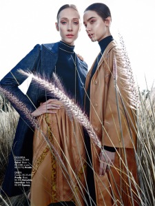 Amanda Fiore And Luiza Scandelari By Nicole Heiniger For L'officiel Brasil April 2015 (2)