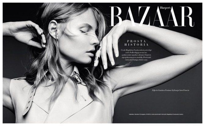 Magdalena for Harper's Bazaar Poland