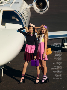 Tian Yi & Elsa Hosk by KT Auleta for Vogue China January 2015 (8)