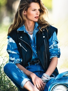 Edita Vilkeviciute By Gilles Bensimon For Vogue Paris June  July 2015 (1)