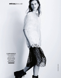 Giedre Dukauskaite by Pamela Hanson for Madame Figaro 28th March 2014 (1)