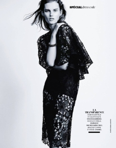Giedre Dukauskaite by Pamela Hanson for Madame Figaro 28th March 2014 (2)