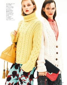 Ellen Pinaffi And Julia Belyakova By Masaya Takagi For Elle Japan November 2014 (3)