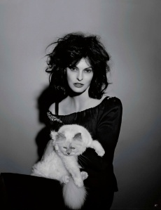 Linda Evangelista And Choupette By Karl Lagerfeld For Vogue Germany July 2013 (3)